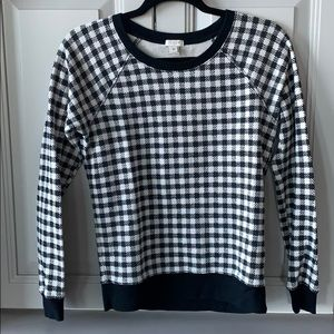 J. Crew Factory Houndstooth Print Sweater Size XS